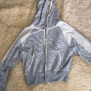 Free People Jackets & Coats - Free people grey zip up jacket